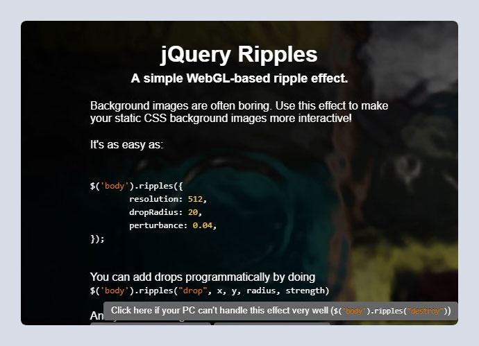 jQuery Ripples