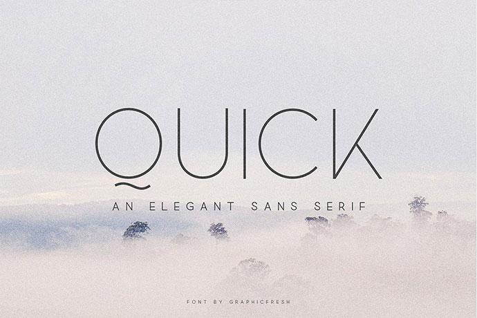 Quick - An Elegant Sans Serif