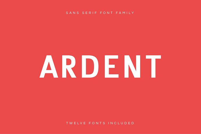 Ardent Sans - Modern Font Family