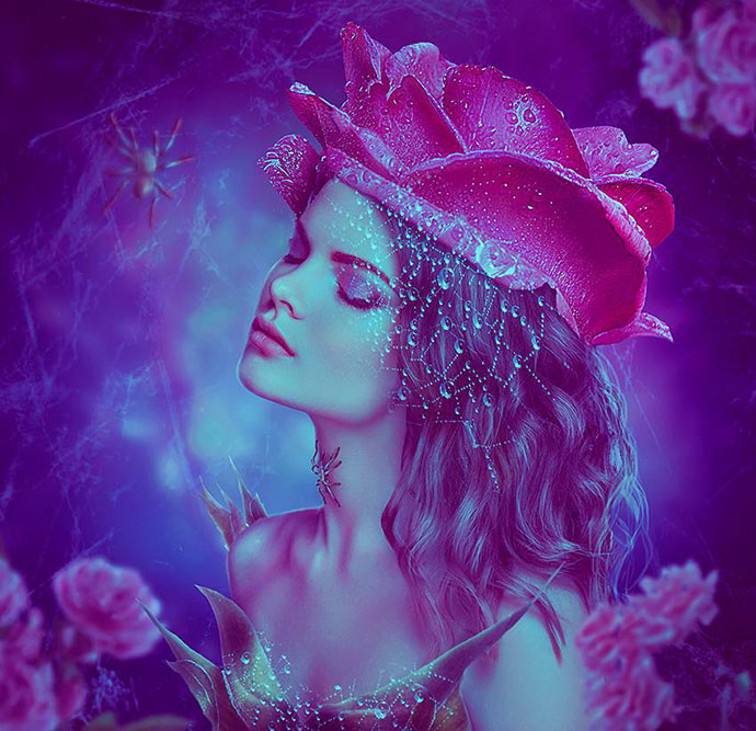 How to Create a Rose and Spider Portrait Photo Manipulation in Photoshop