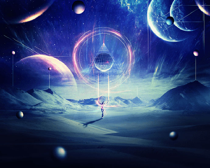 Abstract Sci-Fi Scene