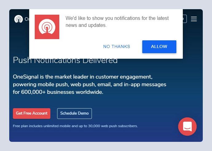 OneSignal – Web Push Notifications