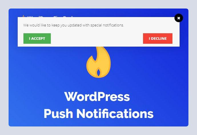 Fire Push - WordPress HTML Web Push Notifications