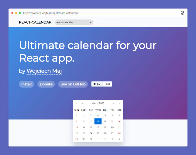 React Calendar