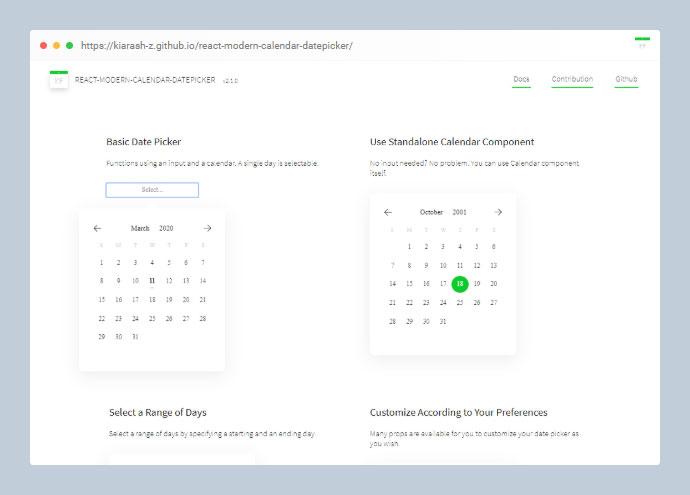 React Modern Calendar Datepicker