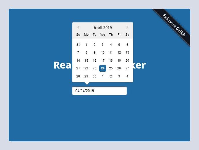 ReactJS Datepicker
