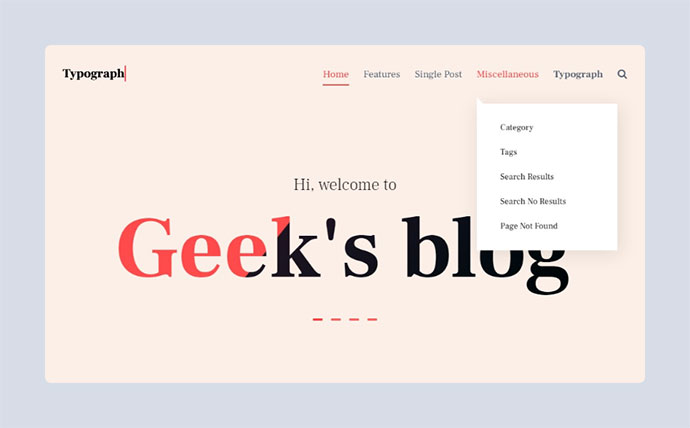 Typograph – Content Focused Gutenberg WordPress Blog Theme