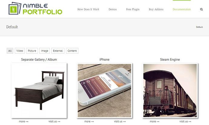 WordPress Picture / Portfolio / Media Gallery