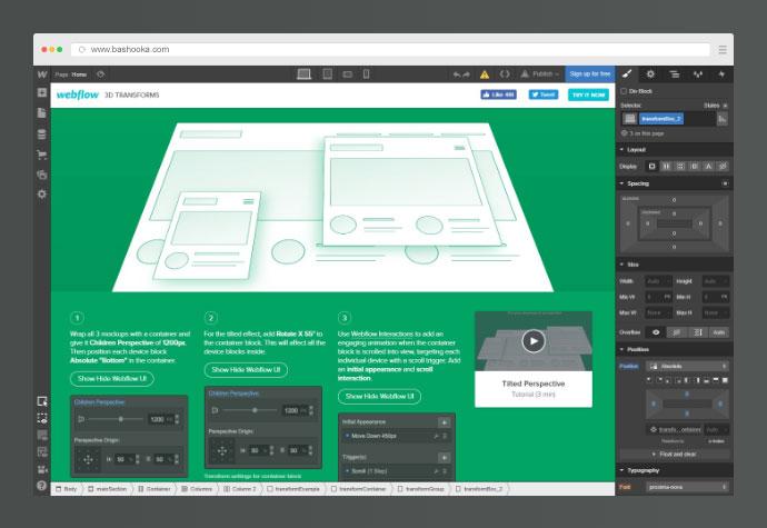 Webflow 3D Transforms