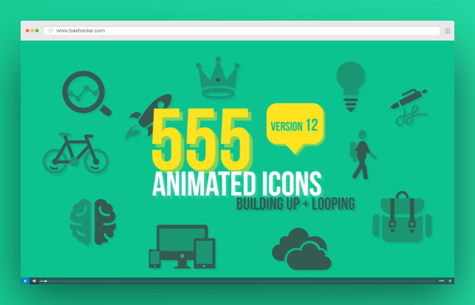 555 Animated Icons