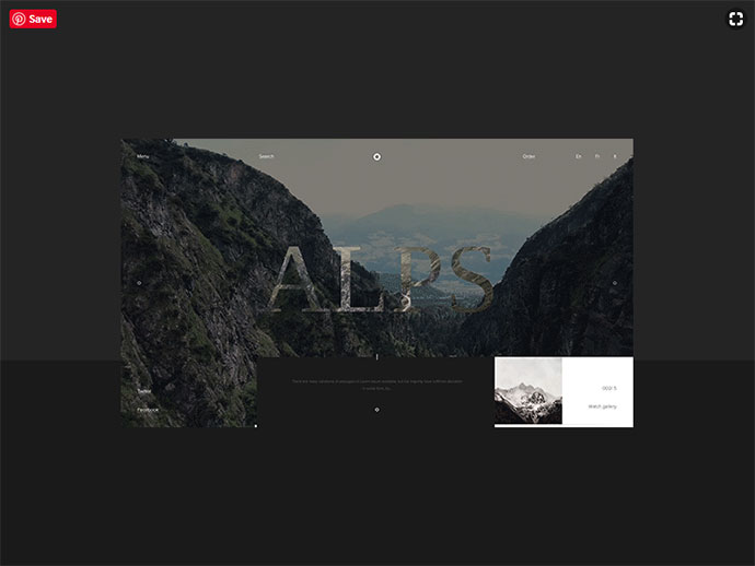 Alps - scroll animation