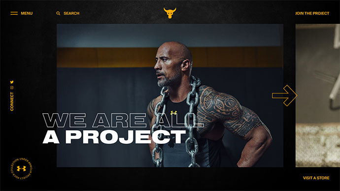 Under Armour Project Rock concept gallery