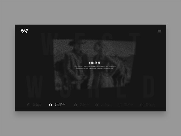 Westworld - concept website