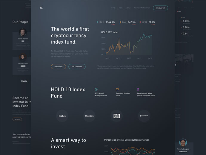 A Fund - Webdesign