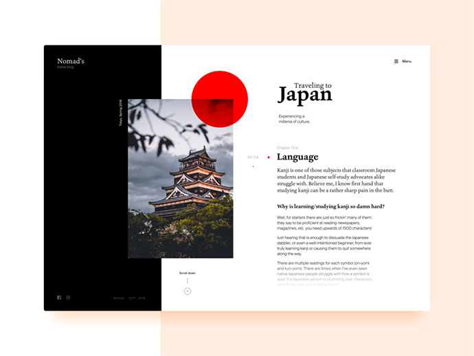 Blog Layout Travel to Japan