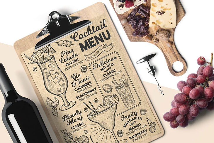 25 Awesome PSD Hand-drawn Restaurant Menu Design Templates