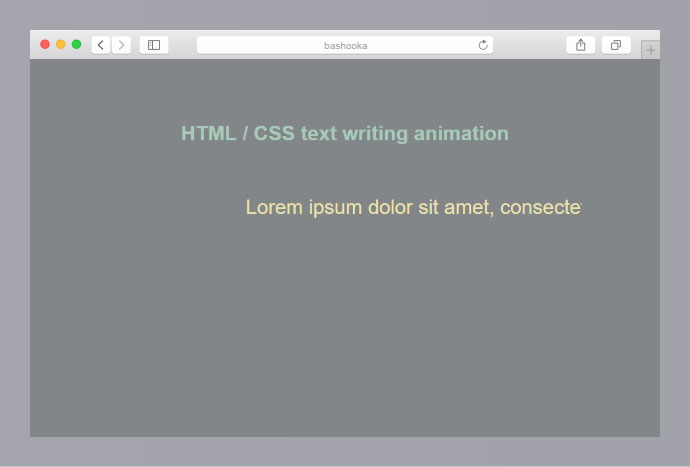 HTML / CSS text writing animation