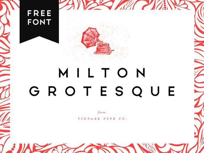 Milton Grotesque FREE Font