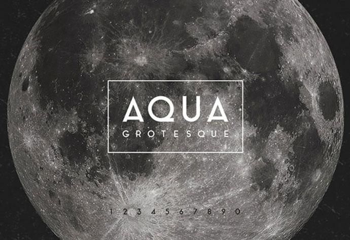 Aqua Grotesque Typeface