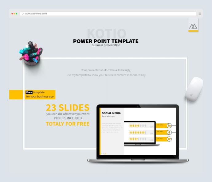 Kotio Free Power Point Business Presentation