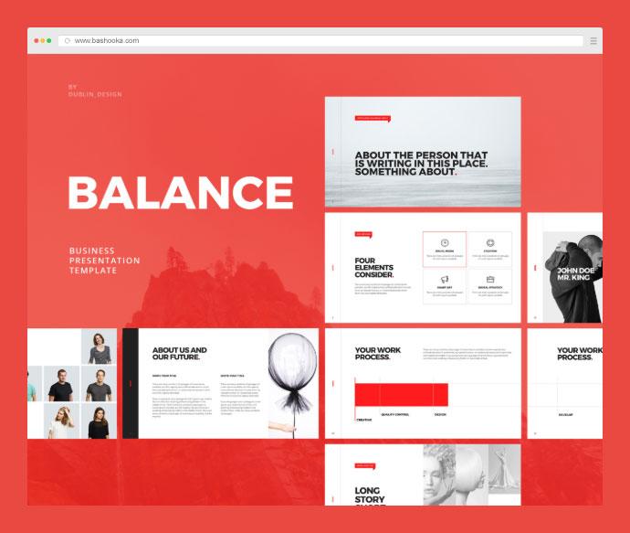 Balance - Free Minimal Powerpoint & Keynote Template