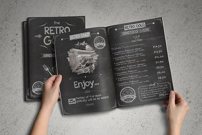 Retro Cafe & Restaurant Menu Pack