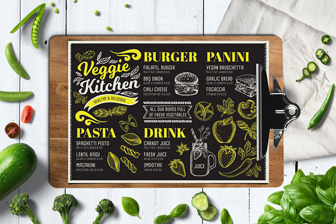 Vegan Food Menu