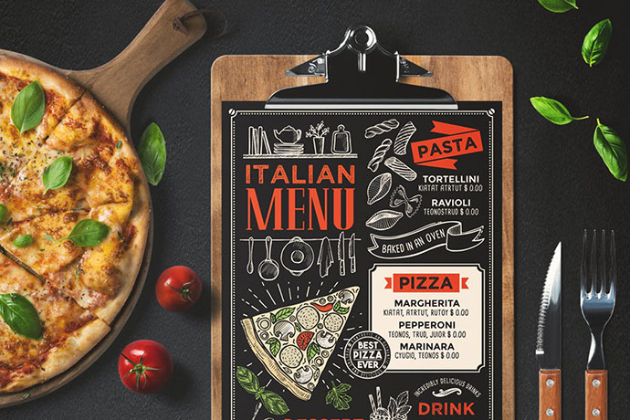 Pizza Food Menu