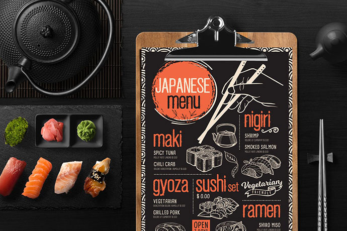 Asian Food Menu Template