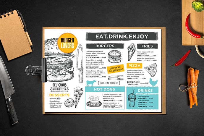 Burger Menu Template Restaurant