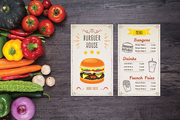 Burger House Food Menu