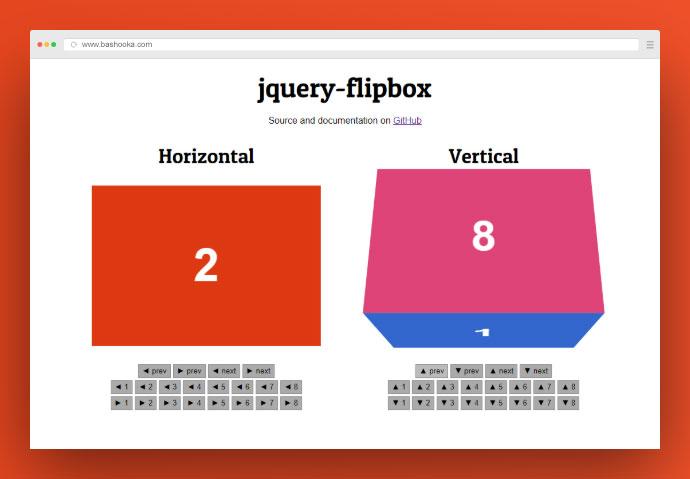 Jquery Flipbox