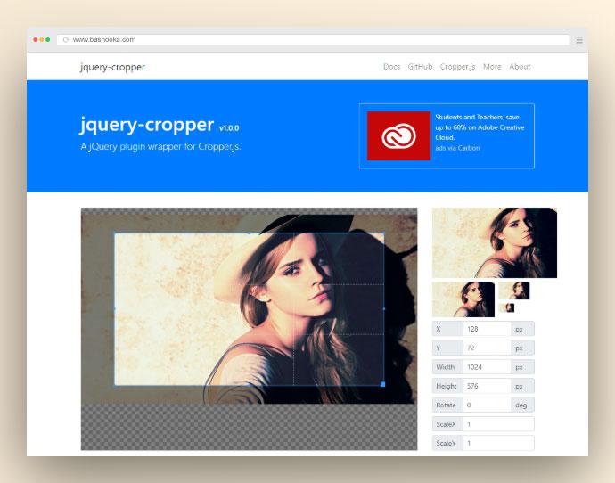 Jquery Cropper