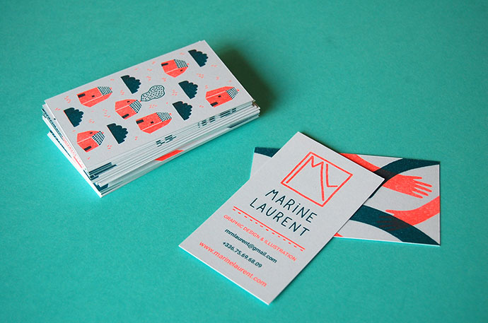 Risograph printing business Cards