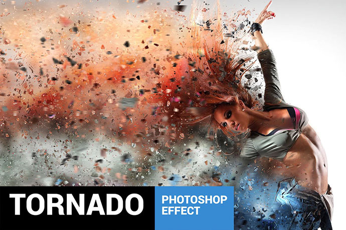 Tornadum - Powerful Dispersion Photoshop Action