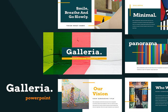 Galleria Colorful Powerpoint Presentation