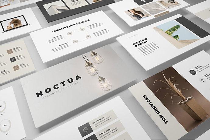 Noctua Minimal PowerPoint Presentation Template