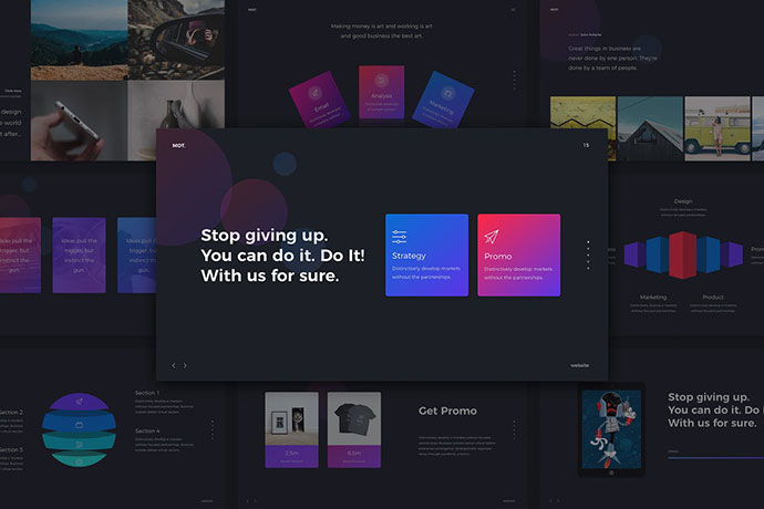 Motion - Gradient & Creative Template (KEY)