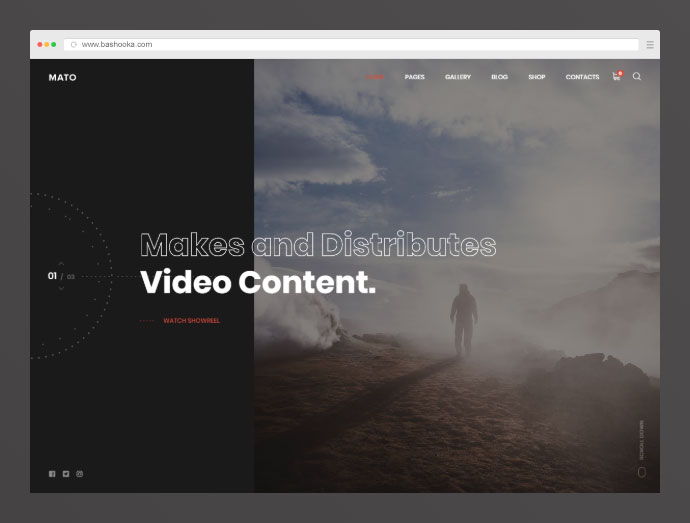 Mato | Movie Studios and Filmmakers WordPress Theme