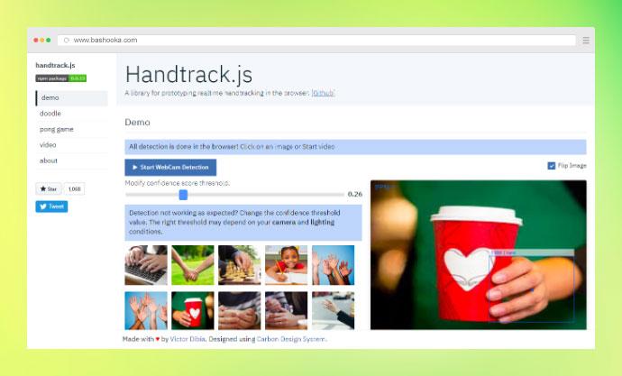 Handtrack.js