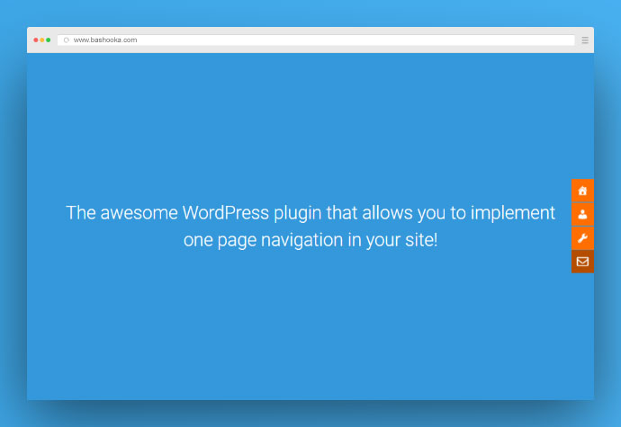 One page navigator, sticky menu for WordPress