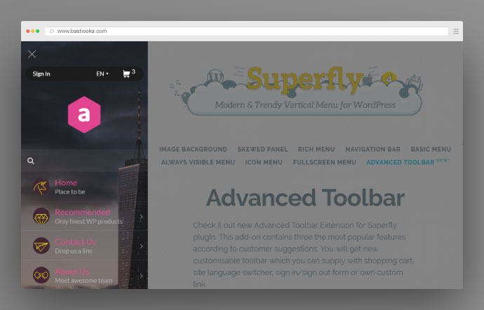 WordPress Menu Plugin — Superfly