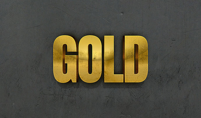 3D Gold Text Effect With Photoshop Layer Styles