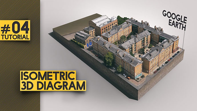 Google Earth 3d Illustration - Architectural Presentation [photoshop]