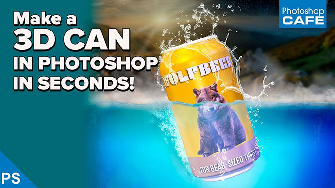 Make A 3d Can In Photoshop In Seconds!