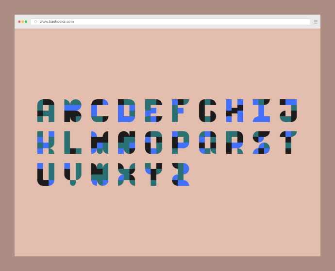 A simple exploration of creating a simple typeface using limited html elements and some styling.