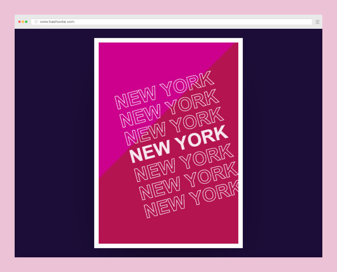 Start Spreading The News - New York Poster (text-stroke, filters, and mix-blend-mode)