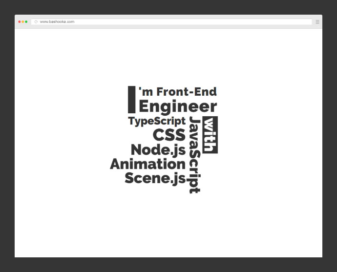 Scene.js examples kinetic typing animation