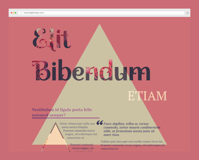 An experimentation with CSS columns, CSS Shapes, Clip Path and Background Clip.