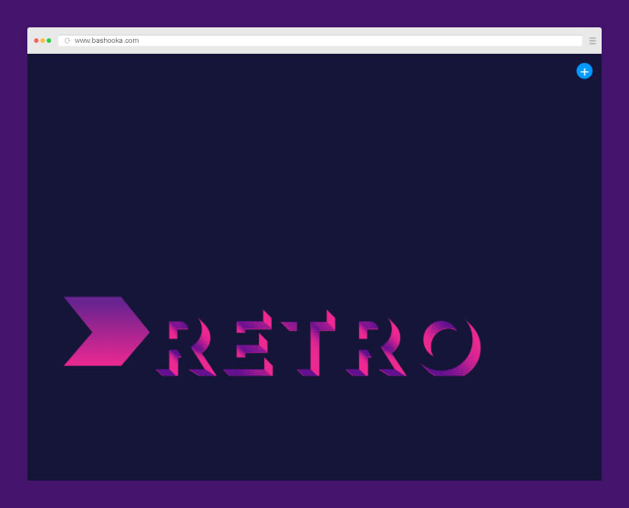 CSS text effects with layered fonts. Using the font Rig Shaded for this effect.